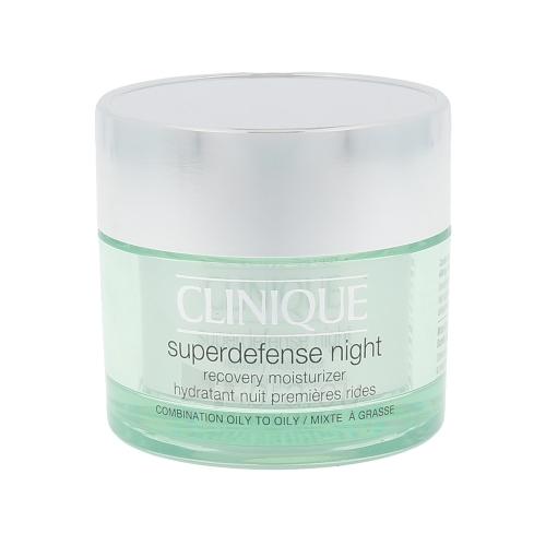 Veido kremas Clinique Superdefense Night Recovery Moisturizer Oily Skin Cosmetic 50ml Paveikslėlis 1 iš 1 310820042026