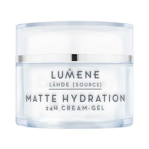 Veido kremas Lumene Mattifying moisturizing gel cream Source (Matte Hydration 24 H Cream - Gel) 50 ml Paveikslėlis 1 iš 1 310820179005