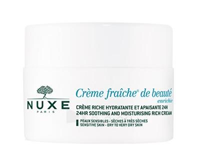 Veido cream Nuxe Creme Fraiche® De Beauté Enrichie (24HR Soothing and Moisturizing Rich Cream) 50 ml Paveikslėlis 1 iš 1 310820054199