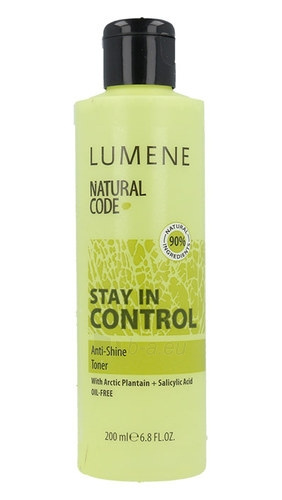Veido tonikas Lumene Natural Code Stay In Control Anti-Shine Toner Cosmetic 200ml Paveikslėlis 1 iš 1 310820043242