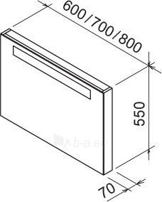 Veidrodis su apšvietimu Ravak Classic, 700, baltas Paveikslėlis 5 iš 5 310820230474