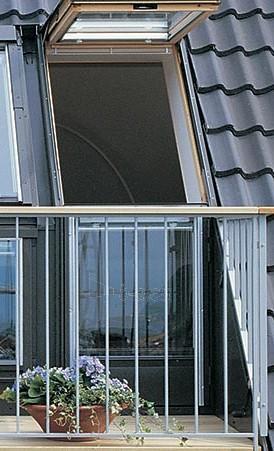 VELUX stogo terasa GEL 3065 (viršutinė dalis) M08 78x136 cm. Paveikslėlis 2 iš 2 310820024384