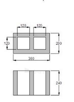 2-channels ventilation block (horizontal) FIBO 360x200 mm Paveikslėlis 2 iš 2 238800000041
