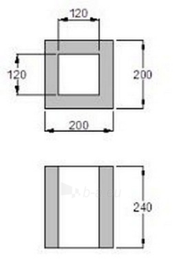 1-channel ventilation block 200x200 Paveikslėlis 2 iš 2 238800000040