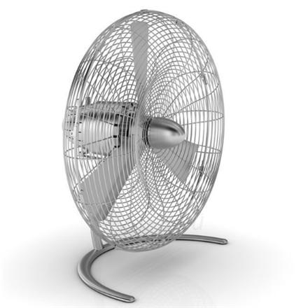 Ventiliatorius Stadler form CHARLY C050E Floor Fan, Number of speeds 3, 60 W, Oscillation, Diameter 45 cm, Stainless steel Paveikslėlis 1 iš 3 310820181749