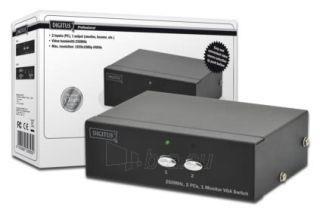 VGA perjungėjas Digitus 2 PC, 1 Monitorius Paveikslėlis 1 iš 2 250251300121