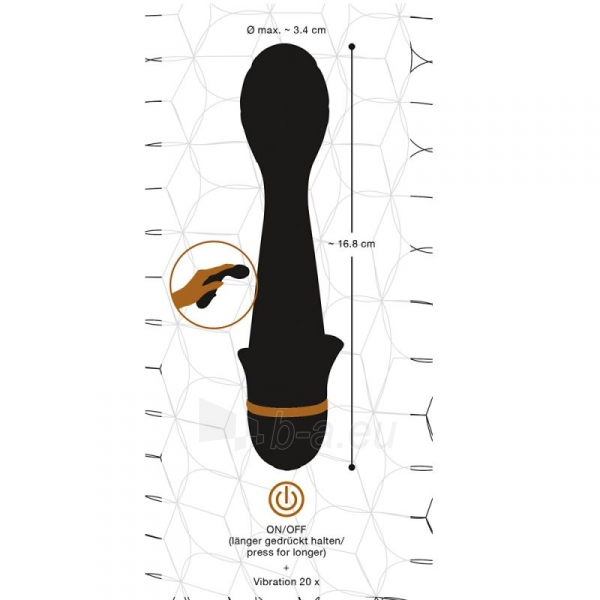 Vibratorus Kaktusas (juoda/aukso) Paveikslėlis 3 iš 7 310820188753