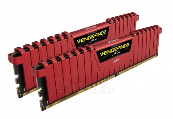 Vidinis kietasis diskas Corsair Vengeance® LPX 2x16GB DDR4 DRAM 3200MHz C16 - red Paveikslėlis 1 iš 1 310820043906