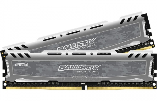 Vidinis kietasis diskas DDR4 Crucial Ballistix Sport 16GB (2x8GB) 2400MHz CL16 1.2V Paveikslėlis 1 iš 1 310820043843