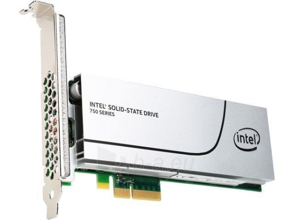Vidinis kietasis diskas Intel® SSD 750 Series (400GB, HHHL PCIe NVMe 3.0 x4, 20nm, MLC) Single Pack Paveikslėlis 1 iš 2 310820037334