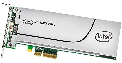Vidinis kietasis diskas Intel® SSD 750 Series (400GB, HHHL PCIe NVMe 3.0 x4, 20nm, MLC) Single Pack Paveikslėlis 2 iš 2 310820037334