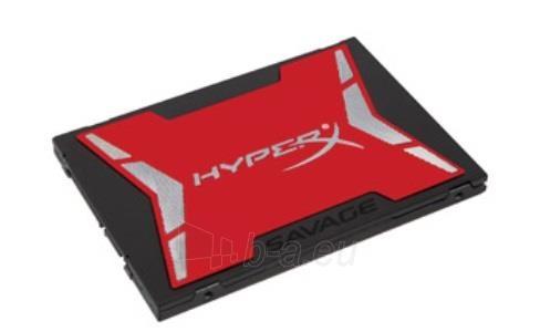 Vidinis kietasis diskas Kingston HyperX Savage 480GB SATA3 2.5 7mm Read:Write (560/530MB/s) Paveikslėlis 1 iš 1 310820044195
