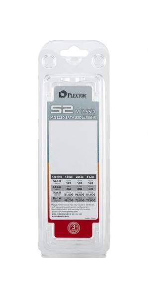 Vidinis kietasis diskas Plextor SSD S2 series 128GB M.2 SATA Paveikslėlis 3 iš 3 310820047524