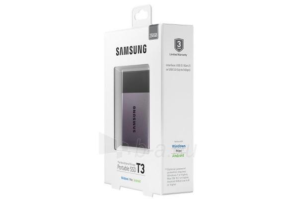 Vidinis kietasis diskas Samsung SSD T3 series, 250GB, 450Mb/s, 74 x 58 x 10.5 mm Paveikslėlis 11 iš 11 310820037459