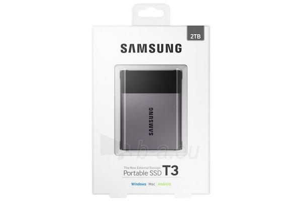 Vidinis kietasis diskas Samsung SSD T3 series, 2TB, 450Mb/s, 74 x 58 x 10.5 mm Paveikslėlis 4 iš 11 310820039591