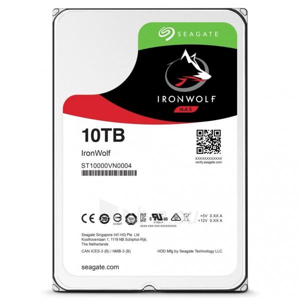 Vidinis kietasis diskas Seagate IronWolf HDD 3.5 10TB SATA3 7200RPM 256MB Paveikslėlis 1 iš 1 310820044271
