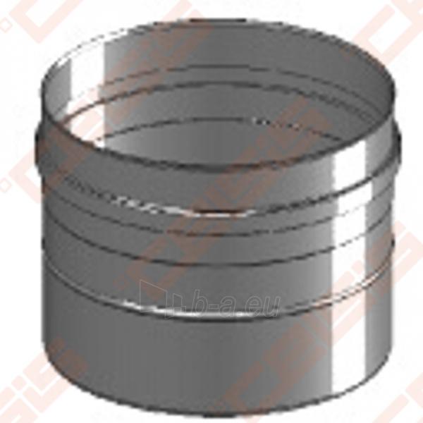Vienasienė nerūdijančio plieno jungtis sujungti dūmtraukį ir katilą arba židinį JEREMIAS FU32 Dn100 Paveikslėlis 3 iš 4 30005601419