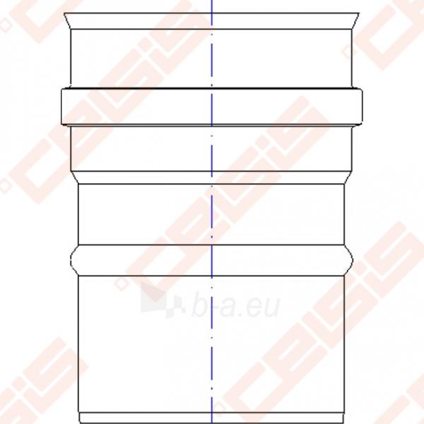 Vienasienė nerūdijančio plieno jungtis sujungti dūmtraukį ir katilą arba židinį JEREMIAS FU32 Dn100 Paveikslėlis 4 iš 4 30005601419