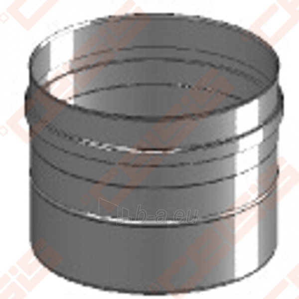Vienasienė nerūdijančio plieno jungtis sujungti dūmtraukį ir katilą arba židinį JEREMIAS FU32 Dn200 Paveikslėlis 3 iš 4 30005601426