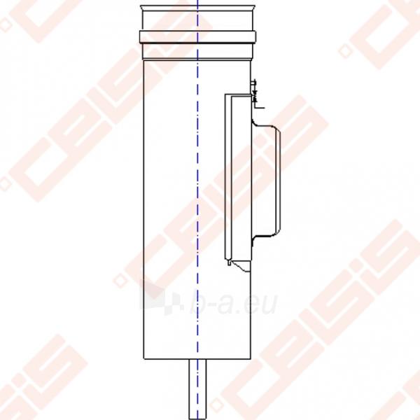 Vienasienė nerūdijančio plieno pravala JEREMIAS OV/EW01+07 Dn120 x 240 su durelėmis (210 x 140mm) ir kondensato surinkėju Paveikslėlis 3 iš 3 30005601884