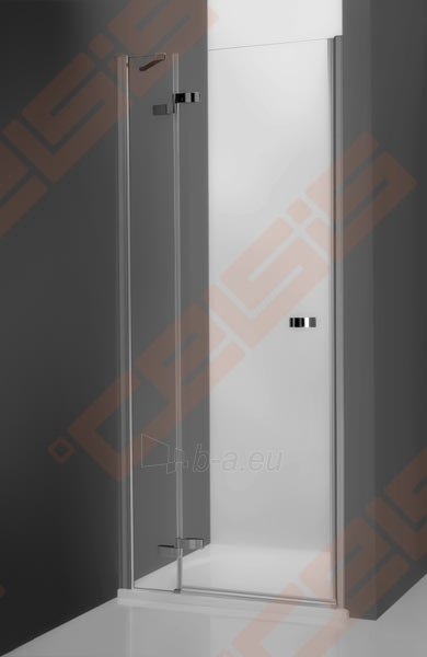 Vieno elemento varstomos dušo durys ROLTECHNIK ELEGANT LINE GDNL1/100, skirtos montuoti į nišą, su brillant spalvos profiliu ir skaidriu stiklu (kairė) Paveikslėlis 1 iš 5 270770000414