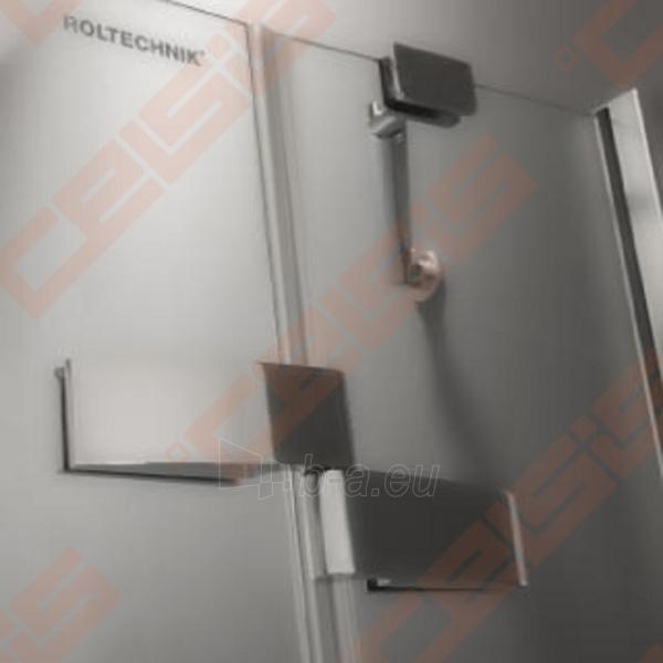 Vieno elemento varstomos dušo durys ROLTECHNIK ELEGANT LINE GDNL1/100, skirtos montuoti į nišą, su brillant spalvos profiliu ir skaidriu stiklu (kairė) Paveikslėlis 3 iš 5 270770000414