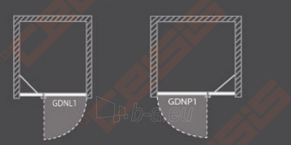 Vieno elemento varstomos dušo durys ROLTECHNIK ELEGANT LINE GDNL1/100, skirtos montuoti į nišą, su brillant spalvos profiliu ir skaidriu stiklu (kairė) Paveikslėlis 5 iš 5 270770000414