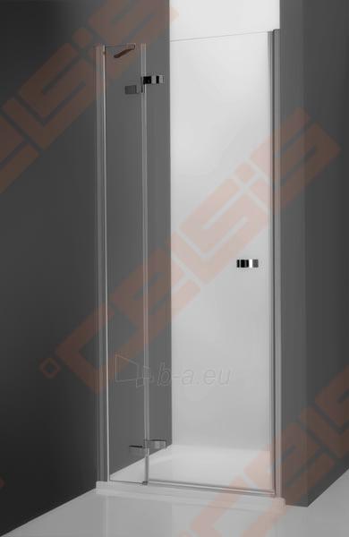 Vieno elemento varstomos dušo durys ROLTECHNIK ELEGANT LINE GDNP1/100, skirtos montuoti į nišą, su brillant spalvos profiliu ir skaidriu stiklu (dešinė) Paveikslėlis 1 iš 5 270770000415