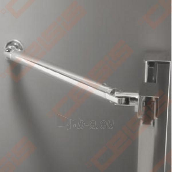Vieno elemento varstomos dušo durys ROLTECHNIK ELEGANT LINE GDNP1/100, skirtos montuoti į nišą, su brillant spalvos profiliu ir skaidriu stiklu (dešinė) Paveikslėlis 4 iš 5 270770000415