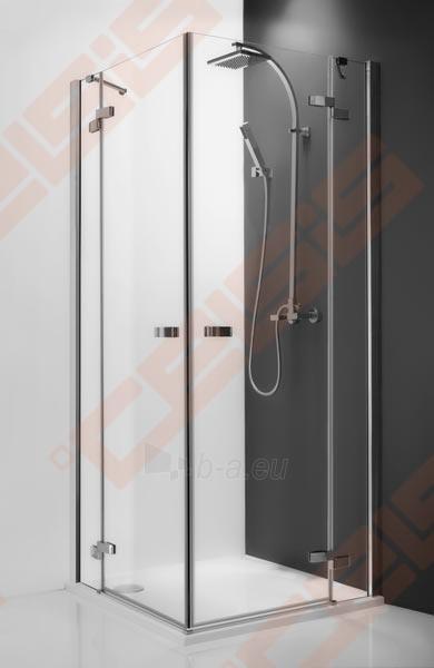 Vieno elemento varstomos dušo durys ROLTECHNIK ELEGANT LINE GDOP1/90 su brillant spalvos profiliu ir skaidriu stiklu (dešinė) Paveikslėlis 1 iš 5 270770000416
