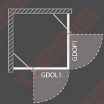 Vieno elemento varstomos dušo durys ROLTECHNIK ELEGANT LINE GDOP1/90 su brillant spalvos profiliu ir skaidriu stiklu (dešinė) Paveikslėlis 5 iš 5 270770000416