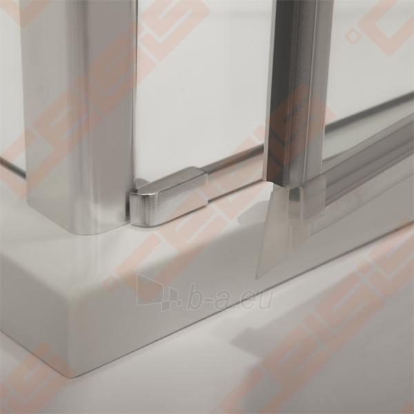 Vieno elemento varstomos dušo durys ROLTECHNIK TOWER LINE TCN1/100 skirtos montuoti į nišą su sidabro spalvos profiliu ir skaidriu stiklu Paveikslėlis 2 iš 3 270770000419