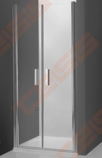 Vieno elemento varstomos dušo durys ROLTECHNIK TOWER LINE TCN2/90 skirtos montuoti į nišą su brillant spalvos profiliu ir skaidriu stiklu Paveikslėlis 1 iš 4 270770000424