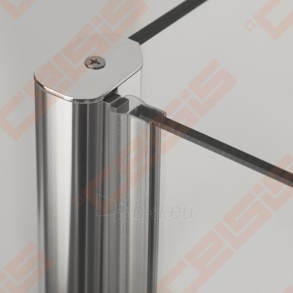 Vieno elemento varstomos dušo durys ROLTECHNIK TOWER LINE TCN2/90 skirtos montuoti į nišą su brillant spalvos profiliu ir skaidriu stiklu Paveikslėlis 3 iš 4 270770000424