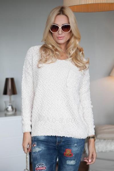 Vilnonis megztinis Joy (kreminės spalvos) Paveikslėlis 1 iš 4 310820032732