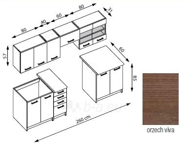 Virtuvės komplektas AMANDA 1-260 cm Paveikslėlis 2 iš 2 250451000062