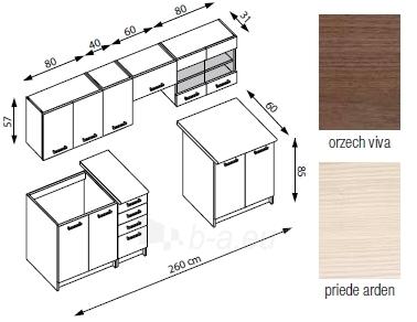 Virtuvės Komplektas AMANDA 2 - 260 cm Paveikslėlis 2 iš 2 250451000063