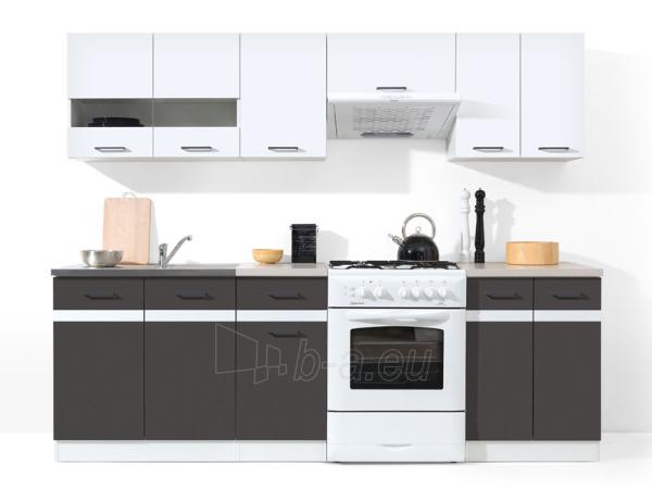 Kitchen Set Junona 240 Balta blizgi/pilka Paveikslėlis 1 iš 2 250451000145