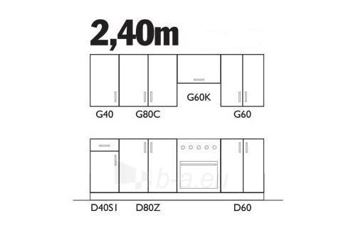Virtuvės komplektas Sofia (2,40 m) Paveikslėlis 2 iš 2 250451000084