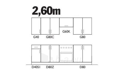 Virtuvės komplektas Sofia (2,60 m) Paveikslėlis 2 iš 2 250451000034