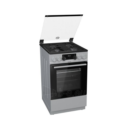 Viryklė Gorenje Cooker K5351SF Hob type Gas, Oven type Electric, Stainless steel, Width 50 cm, Electronic ignition, Grilling, LED, 62 L, Depth 60 cm Paveikslėlis 1 iš 1 310820162316