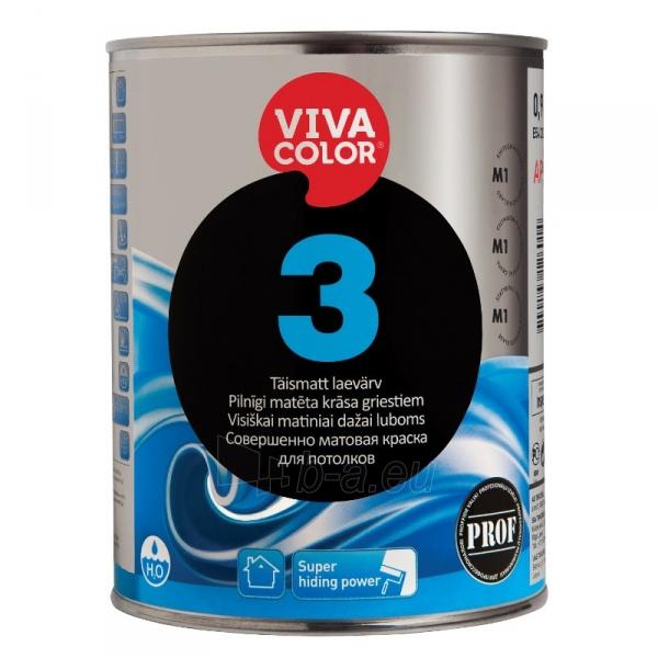 Visiškai matiniai VIVACOLOR 3 dažai luboms 0.9l Paveikslėlis 1 iš 1 310820016614
