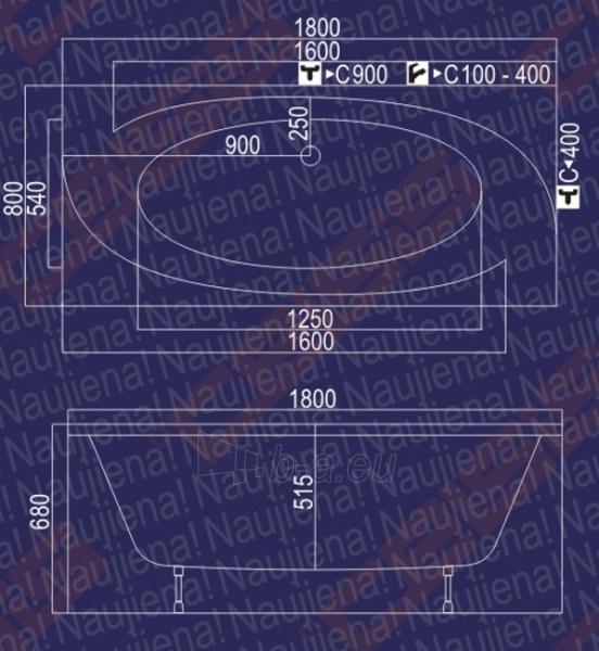 Vonia Audra 180x80x68 Paveikslėlis 3 iš 3 270716000383