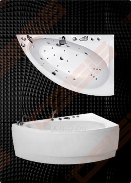 Vonia BALTECO Idea 170x100 cm kairė, su oro ir vandens masažu Combi S4 su apdaila E16 Paveikslėlis 1 iš 3 270716001003