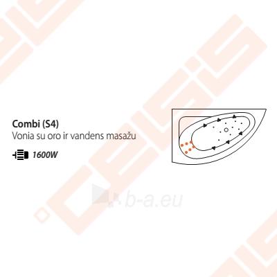 Vonia BALTECO Idea 170x100 cm kairė, su oro ir vandens masažu Combi S4 su apdaila E16 Paveikslėlis 3 iš 3 270716001003