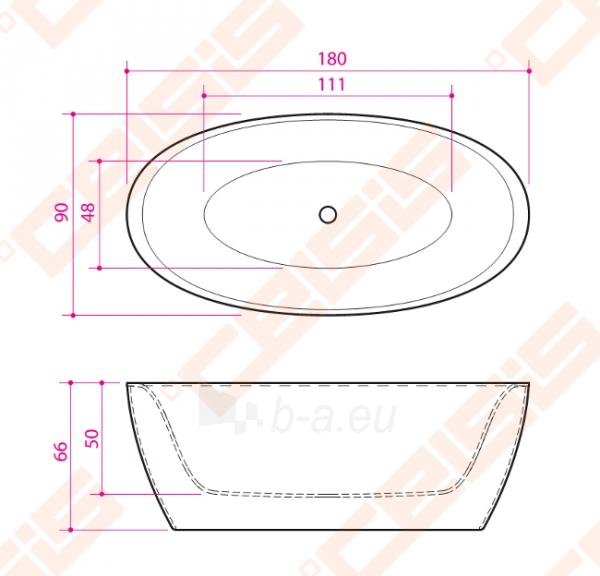 Vonia BALTECO Senzo 180x90 cm Paveikslėlis 4 iš 4 270716001028