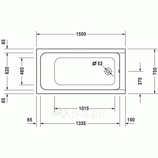 Vonia Duravit D-Code 150x70 Paveikslėlis 1 iš 2 270716000788