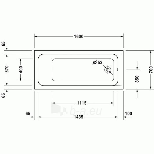 Vonia Duravit D-Code 160x70 Paveikslėlis 2 iš 2 270716000789