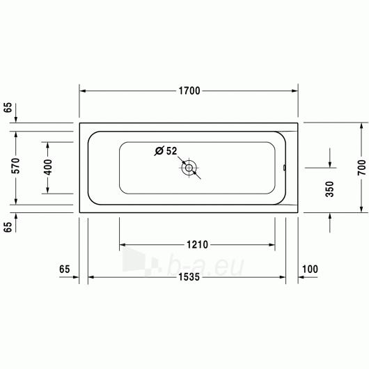 Vonia Duravit D-Code 170x70 Paveikslėlis 1 iš 5 270716000790