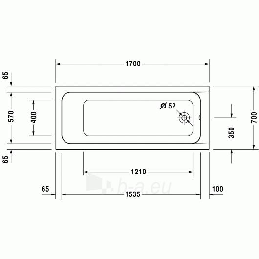 Vonia Duravit D-Code 170x70 Paveikslėlis 3 iš 5 270716000790